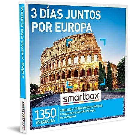 Smartbox - Caja Regalo 3 días Juntos por Europa - Idea de Regalo Original - 2 Noches con Desayuno o 2 Noches para 2 Personas