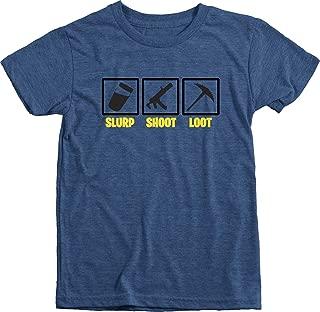 Trunk Candy Slurp Shoot Loot Kids Gamer T-Shirt