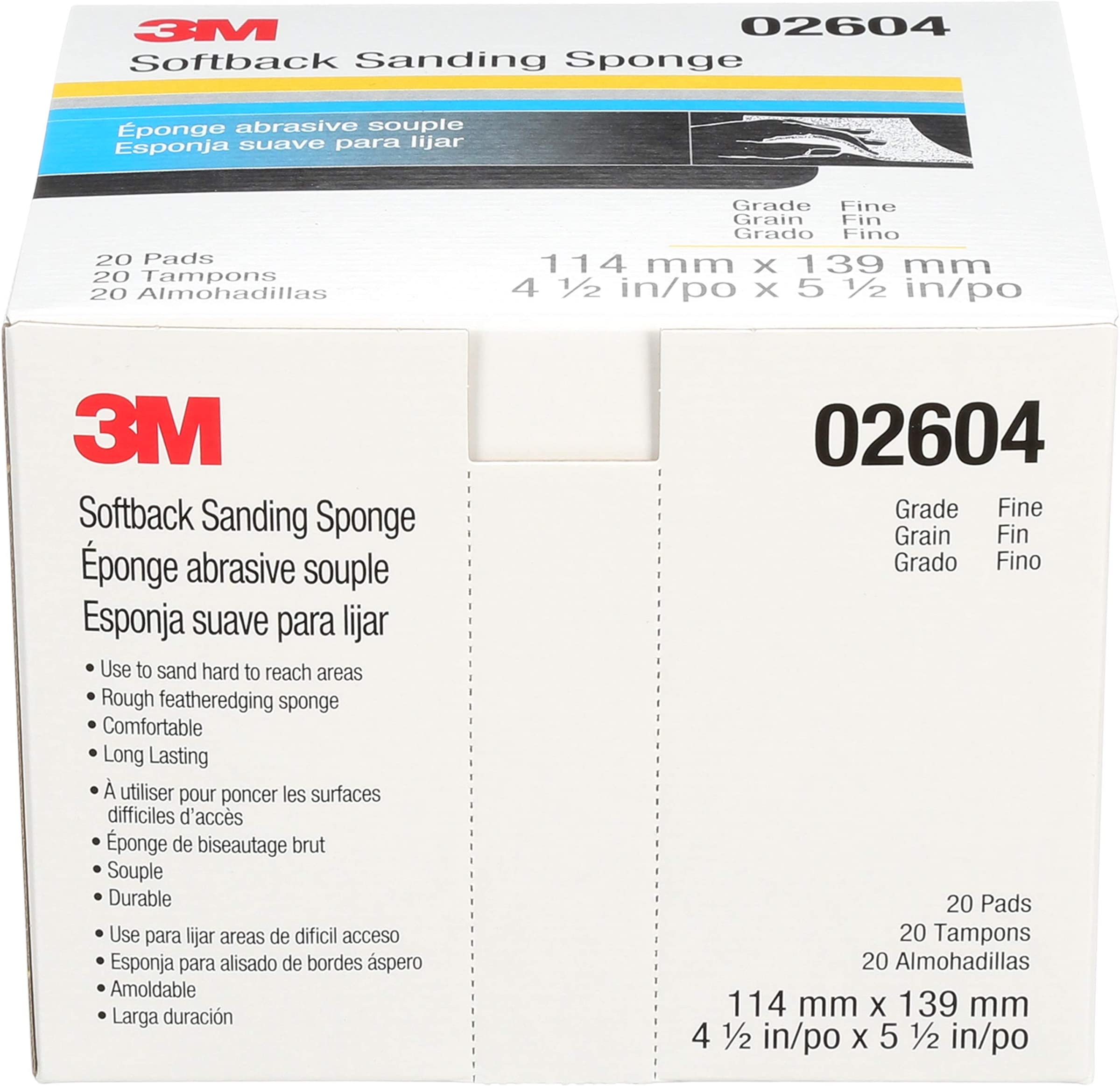 3M Softback Sanding Sponge 02604 20 Pads