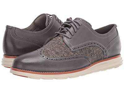 Cole Haan Original Grand Wingtip Oxford (Quiet Shade Leather/Wool/Ivory) Men