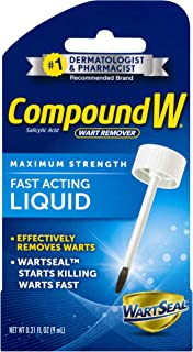 Compound W Fast Acting Liquid | Salicylic Acid Wart Remover | 0.31 FL OZ