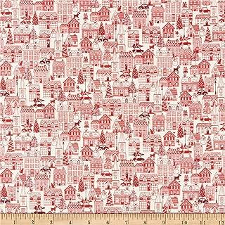 Andover/Makower UK Scandi 2019 Houses Red Fabric