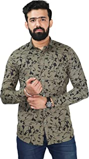 Color Play Men's Pure Cotton Slim Fit Coudroy Camouflage Checks Casual Full Sleeves Shirt