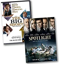 The Big Short & Spotlight Biographical Dramas 2 DVD Bundle - Christian Bale / Mark Ruffalo / Steve Carell / Michael Keaton / Ryan Gosling