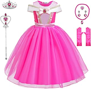 BanKids Princess Dresses Girls Costumes Off Shoulder Dress up for Little Girls with Luxury Accessories