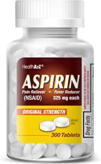 HealthA2Z Aspirin 325mg, 300 Count, Uncoated,Compare to Bayer� Active Ingredients