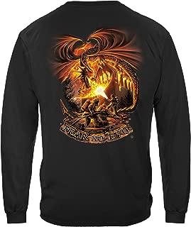 Firefighter T Shirt Fear No Evil Dragon Tshirt - Fireman Gift Flag hat tee