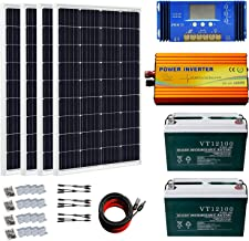 ECO-WORTHY About 500W Solar Panels with 1000W Pure Sine Wave Inverter and 200Ah Battery Complete Kit for RV, Boat, Off-Grid Battery Systems