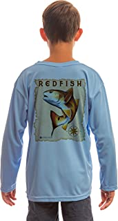 Maritime Destinations Red Fish Youth UPF 50+ UV/Sun Protection Long Sleeve T-Shirt