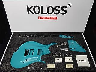Koloss GT-4 Blue Aluminum Alloy Electric Guitar DIY w/H-H Pickup - Full Kit
