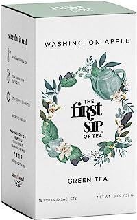 Washington Apple Green Tea Box, 16 Tea Bags, The Spice Hut