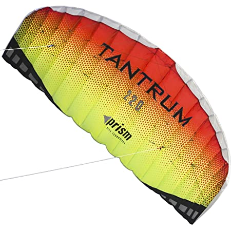Revolution Kites EXP Sport Wing Kite with Reflex Technology Handles // Line Set // Instruction Manual // 1 Spare Shaft Hot Yellow // Red // Orange
