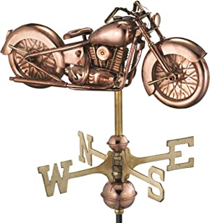 Good Directions Motorcycle Weathervane with Roof Mount, Pure Copper