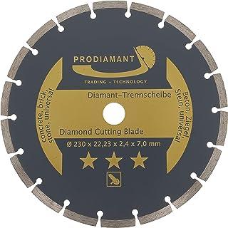 PRODIAMANT Diamantskärskiva 230 mm 9 tum x 22,23 M14 betong, sten, tegel, universellt sågblad för torr och våt skärning, guld