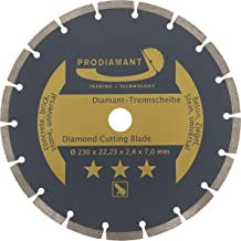 PRODIAMANT Diamantslijpschijf 230 x 22,2 mm UNIVERSAL diamantschijf voor het snijden van beton, steen, baksteen en bouwmat...