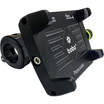 BOBO Claw-Grip Aluminium Waterproof Bike/Motorcycle/Scooter Mobile Phone Holder Mount, Ideal for Maps and GPS Navigation (Black)