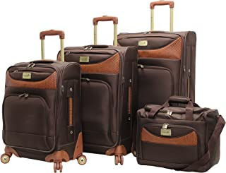 Castaway 4-Piece Spinner Luggage Set (Chocolate)