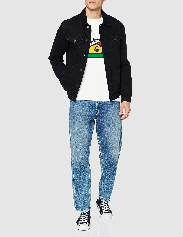 Z6ERJ United Colors of Benetton T-Shirt Su/éter para Hombre