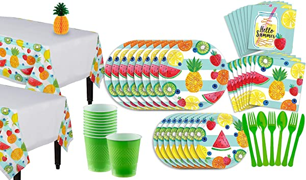 Party City Hello Summer Party Supplies For 16 Guests Include Plates Napkins Utensils Table Covers And A Centerpiece