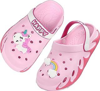 Weweya Kids Garden Clogs Winter Summer Cute Sandals Slippers with Cartoon Charms for Boys Girls Toddler Outdoor Indoor