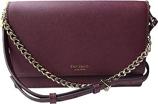 Kate Spade New York Leather Cameron Convertible Crossbody Handbag Clutch (Cherrywood)