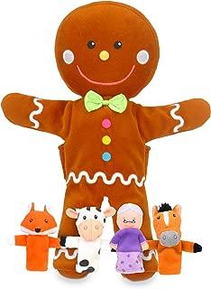 gingerbread man hand puppet