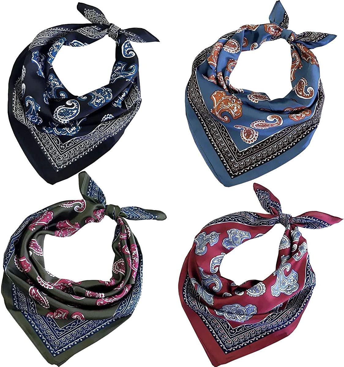 FYLuoke Silk Feeling Satin Super beauty product restock quality top! HeadScarf Cheap mail order shopping for Scarf Neck Hair Bandana