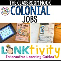 Colonial Jobs LINKtivity Digital Interactive Learning Guide + Flipbook {Google Classroom Compatible}
