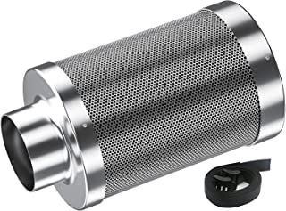 Auertech 4inch Air Carbon Filter, Odor Control with Australia Virgin Charcoal Tent Grow Plants Filter with Pre-filter, Rev...