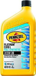 Pennzoil Platinum Euro-L Full Synthetic 5W-30 Motor Oil (1-Quart, Case of 6)