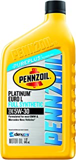 Pennzoil Platinum Euro-L Full Synthetic 5W-30 Motor Oil (1-Quart, Case of 6)