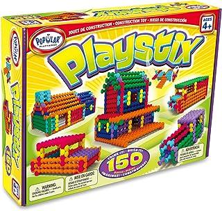 POPULAR PLAYTHINGS Playstix Construction Toy Building Blocks Set 150 Piece Kit