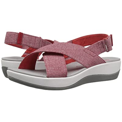 Clarks Arla Kaydin (Red/White Heathered Elastic) Women