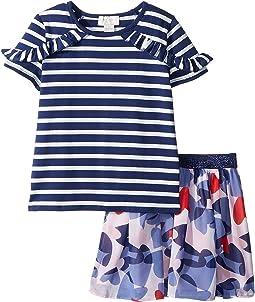 Confetti Hearts Skirt Set (Toddler/Little Kids)