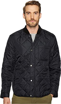 Transitional Quilted Nylon Jacket with Rib Knit Collar
