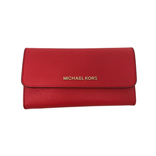 52e9c8795e62 Michael Kors Jet Set Travel Large Trifold Leather Wallet