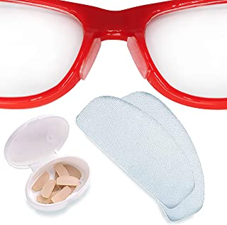 Setex Gecko Grip Anti-Slip Nose Pads for Eyeglasses, USA Made, Micro-Structured Fibers, Ultra-Strong Grip and Ultra-Soft, 5 Clear Pairs with Self Stick Adhesive, 1mm x 7mm x 16mm