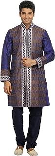 Blue Violet Indian Wedding Kurta Pajama Sherwani - Indian Ethnic Wear for Men