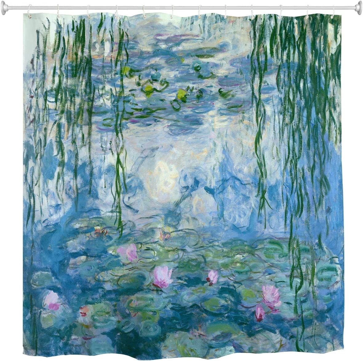 Shower Beauty products Curtain Water Lilies by Many popular brands Flower Claude Paintings Oil Monet