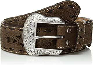 حزام Nocona Belt Co للرجال من Nocona Brown Tone Buck Taper