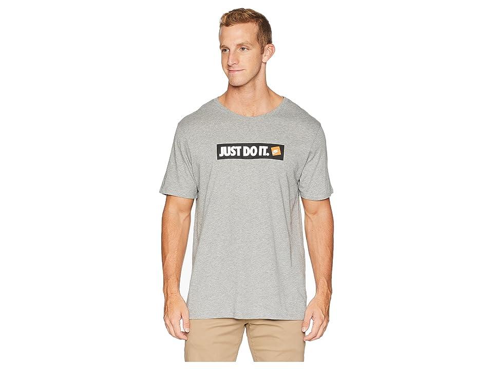 Nike NSW Tee Hybrid 1 (Dark Grey Heather/White) Men