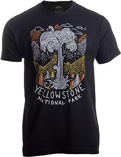 Yellowstone National Park | Geographic Poster Print Travel Art Men Women T-Shirt