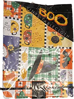 target Fall Vinyl Table Cloth Witches hat, Coffee, Sunflowers, Fall Leaves, Pumpkin Round 60