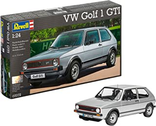 Revell Revell-07072 Volkswagen Maqueta VW Golf 1 GTI, Kit Modelo, Escala 1:24 (07072), Color Plata