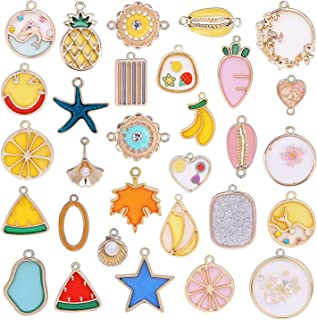 Phogary 30pcs Assorted Charms for Jewelry Making, Various Pendants for DIY Crafting, Bracelet Necklace Dangle Accessory for Women Girls