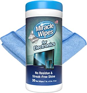 MiracleWipes for Electronics Cleaning - Screen Wipes...