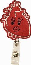 Anatomical Heart Nurse Retractable Badge Reel Holder – Nursing Name Badge Holder – Felt Badge Reel for Nurses, Students & Doctor – Cute & Practical ID Badge Holder – Alligator Clip – Easy to Use