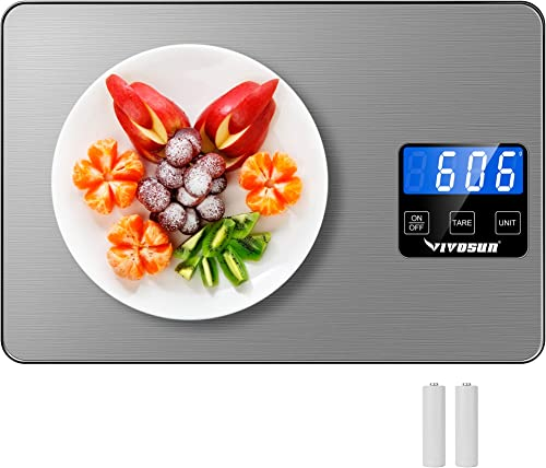 popular VIVOSUN Digital Kitchen Scale, Food Scale Weighing in Gram, Kilogram and Ml, high quality with Tare Function, Battery and USB Powered Scale, 1 Gram Precision, Maximum 15000g online Weighing Capacity, Ash Grey outlet sale