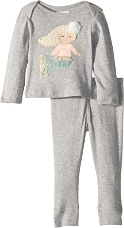 Mermaid Long Sleeve Two-Piece Playwear Set (Infant)