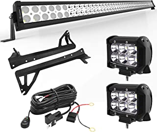 YITAMOTOR LED Light Bar 50 inches Combo Light Bar & 2pc inches 18W Spot Light Pods & Wiring Harness & Roof Mounting Brackets Compatible for 2007-2018 Jeep Wrangler JK